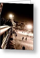 Pier At Night Greeting Card