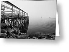 Pier At Popham Greeting Card