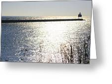 Pier At Two Harbors Greeting Card