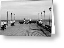 Pier End View At Skegness Greeting Card
