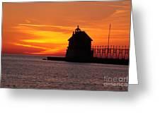 Pier Fire- Btbutler Greeting Card