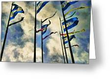 Pier Flags Greeting Card