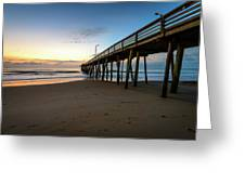 Pier For Breakfast Greeting Card