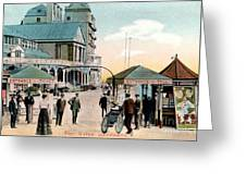 Pier Gates Llandudno Wales Greeting Card