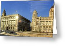 Pier Head Liverpool Panorama 2 Greeting Card