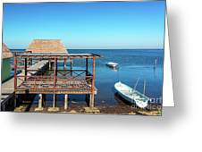 Pier In Champoton, Mexico Greeting Card