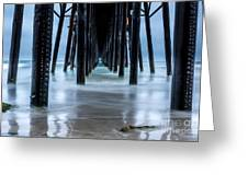 Pier Into The Ocean Greeting Card