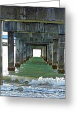 Pier Into The Sunset Greeting Card