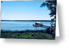 Pier On The Bay Greeting Card