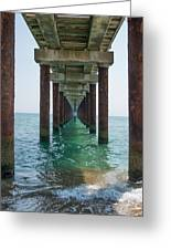 Pier On The Outer Banks Greeting Card