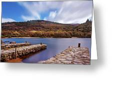 Pier On The Upper Lake In Glendalough - Wicklow, Ireland Greeting Card
