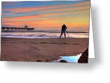 Pier Portrait Photographer Greeting Card