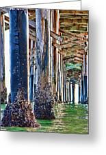 Pier Pylons Balboa Greeting Card