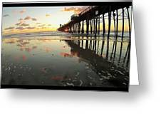 Pier Reflections - Sunset Greeting Card