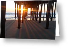 Pier Shadows Greeting Card