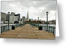 Pier Shot Greeting Card