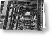 Pier Storm Greeting Card