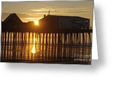 Pier Sunrise Greeting Card