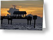 Pier Sunset Greeting Card