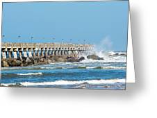 Pier Surf Greeting Card