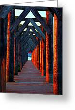 Pier Symmetry   Greeting Card