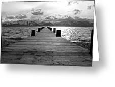 Pier To Mount Tallac Lake Tahoe Greeting Card