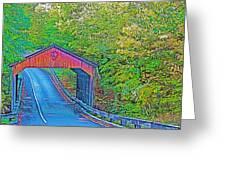 Pierce Stocking Covered Bridge In Sleeping Bear Dunes National Lakeshore-michigan Greeting Card