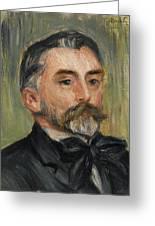 Pierre-auguste Renoir 1841-1919 Portrait Stephane Mallarme Greeting Card