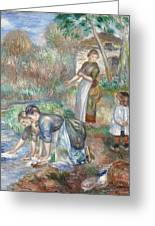 Pierre-auguste Renoir - Washerwomen 1888 Greeting Card