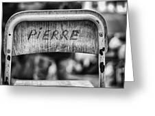 Pierre Greeting Card