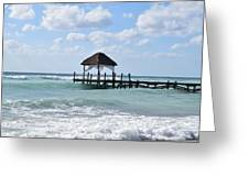 Piers By The Ocean Greeting Card