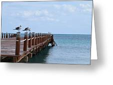 Piers By The Ocean2 Greeting Card