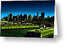 Piers Of San Francisco Greeting Card