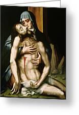 Pieta Greeting Card by Luis de Morales