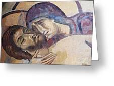 Pieta-mural Detail Greeting Card