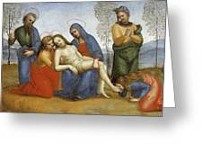 Pieta Raffaello Sanzio Da Urbino Raphael Raffaello Santi Greeting Card