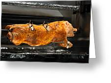 Pig Plus Barbecue Equals Mmmm Good Greeting Card by Christine Till