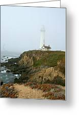 Pigeon Point Light In A Mist Greeting Card