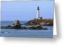 Pigeon Point Lighthouse - Palette Knife Greeting Card