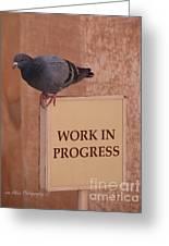 Pigeon - Work In Progress Greeting Card