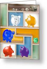 Piggy Banks Greeting Card