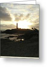 Pigion Point Lighthouse 1 Greeting Card