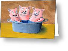 Pigs In A Tub Greeting Card