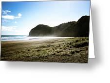 Piha, New Zealand Greeting Card