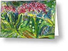 Piinta The Butterfly Flower Greeting Card