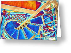 Pike Brewpub Stair Greeting Card