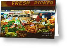 Pike Place Market Produce Greeting Card