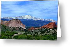 Pikes Peak And Garden Of The Gods 1 Greeting Card