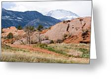Pikes Peak From Red Rock Canyon Greeting Card