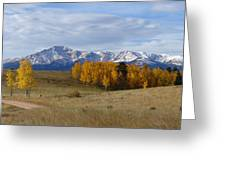 Pikes Peak In The Fall Greeting Card
